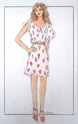 Painting - Red Heart Dress by Pamela Weisberg