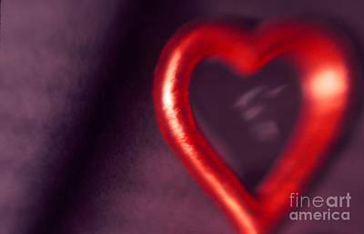 Photograph - Red Heart Mirror by Tamarra Tamarra