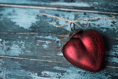 Royalty-Free and Rights-Managed Images - Red Heart by Nailia Schwarz