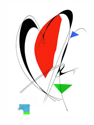 Mixed Media - Red Heart by Roger Bester
