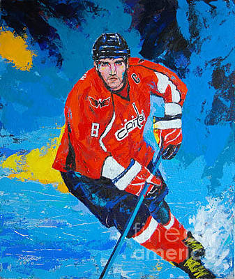 Alexander Ovechkin Painting - Red Heat by Dojlidko