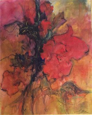 Painting - Red Hibiscus by Karen Ann Patton