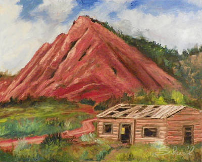 Painting - Red Hill And Cabin by Sherril Porter