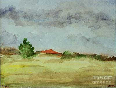 Red Hill Landscape Art Print by Vonda Lawson-Rosa