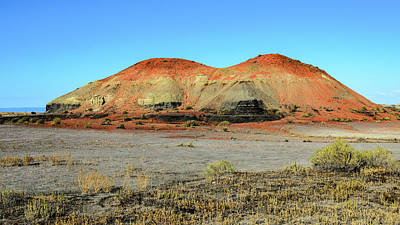 Photograph - Red Hill Saddletop - Bisti Badlands by Debra Martz
