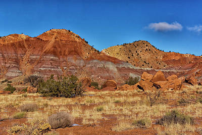 Photograph - Red Hills Near The Ghost Ranch Nm Dsc09819 by Greg Kluempers