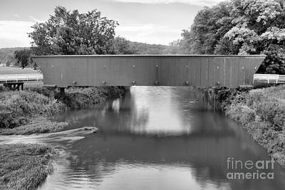 Photograph - Red Hogback Reflections Black And White by Adam Jewell