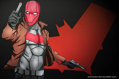 Red Digital Art - Red Hood by Super Lovely