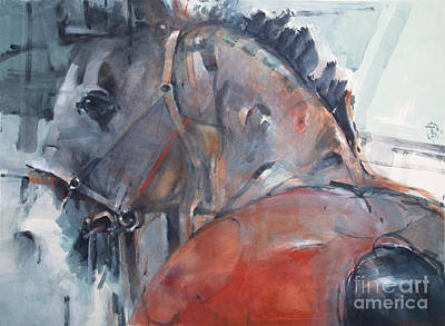 Wall Art - Painting - Red Horse 5 by Tony Belobrajdic