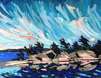 Thousand Islands Painting - Red Horse Cirrus by Phil Chadwick