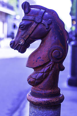 Bourbon Street Photograph - Red Horse Hitching Post by Garry Gay