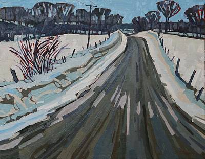 Red Horse Snow Original by Phil Chadwick