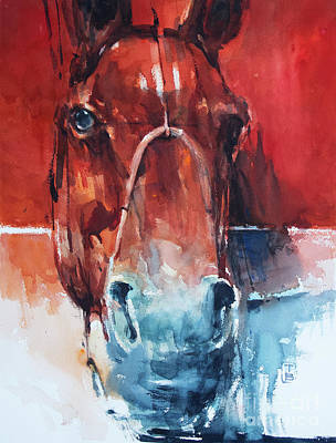 Wall Art - Painting - Red Horse by Tony Belobrajdic