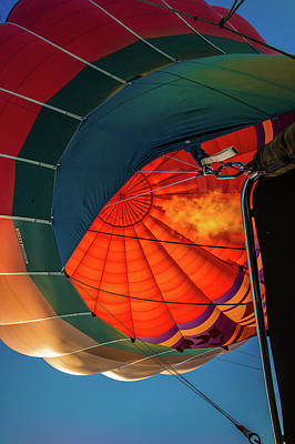 Photograph - Red Hot Air Balloon by Judith Barath