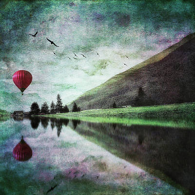 Photograph - Red Hot-air Balloon by Roberto Pagani