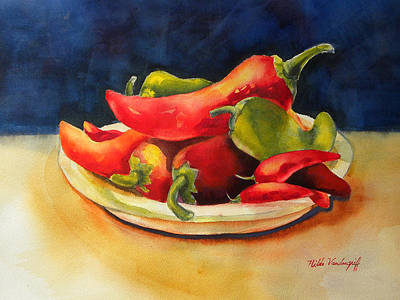 Painting - Red Hot Chile Peppers by Hilda Vandergriff