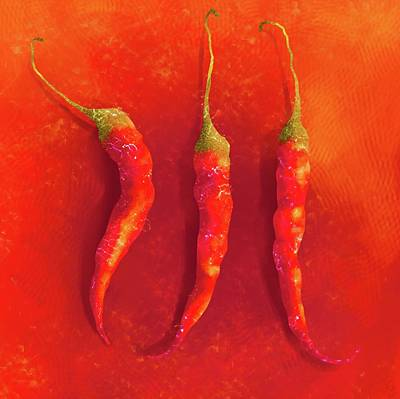 Painting - Hot Chili Peppers by Joe Gilronan