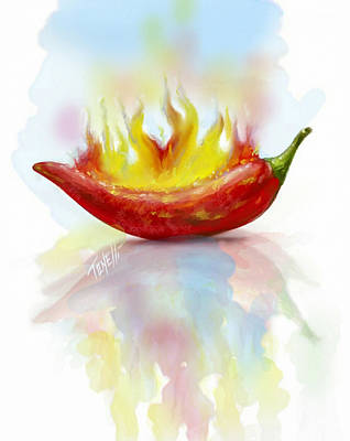 Red Hot Chili Pepper  Art Print by Mark Tonelli