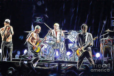 Photograph - Red Hot Chili Peppers Collection by Marvin Blaine