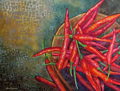 Pepper Painting - Red Hot Chili Peppers by Dee Carpenter