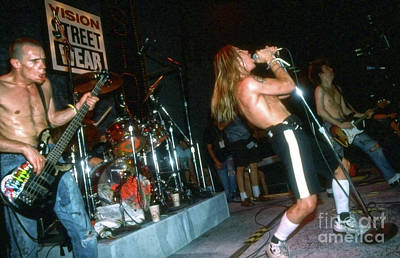 Photograph - Red Hot Chili Peppers From 1988 Skate Escape by Gregory Dyer