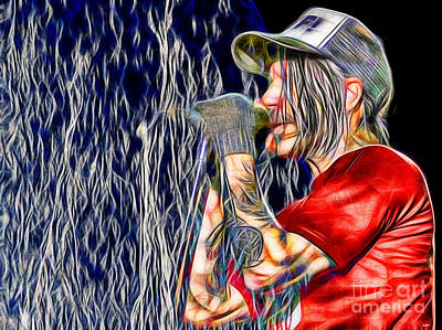 Red Hot Chili Peppers In Color Art Print