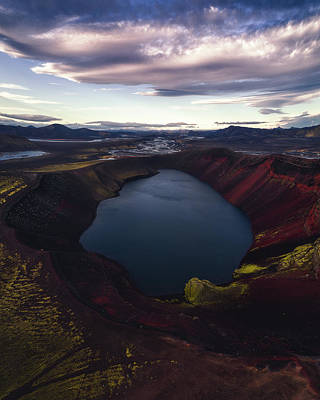 Highlands Photograph - Red Hot Crater by Tor-Ivar Naess