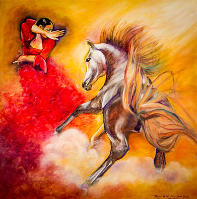 Painting - Red Hot Dance by Jenny anne Morrison