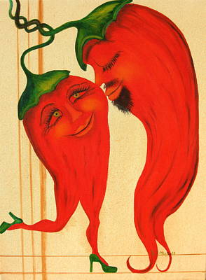 Painting - Red Hot Lovers by RJ McNall
