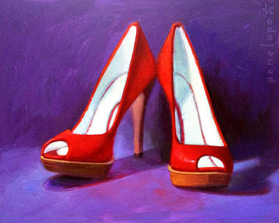 Napa Valley Vineyard Painting - Red Hot by Penelope Moore
