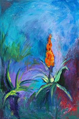 Painting - Red Hot Poker by Jillian Goldberg
