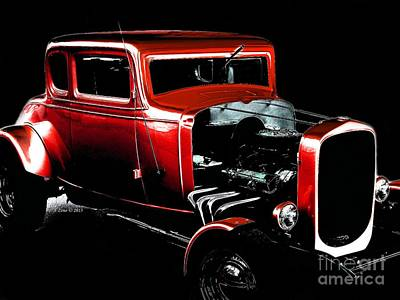 Photograph - Red Hot Rod by Annie Zeno