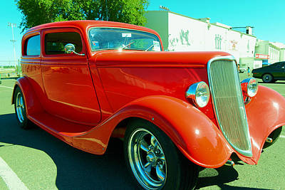 Hand Crafted Photograph - Red Hot Rod by Jeff Swan