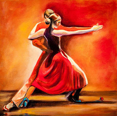 Painting - Red Hot Tango by Jenny anne Morrison