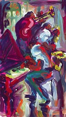 Red Hot Trio Art Print by Saundra Bolen Samuel