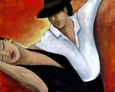 Ballroom Painting - Red Hot by Valerie Vescovi