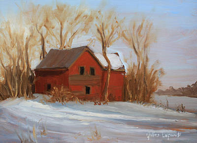 Painting - Red House by Gilles Lafond