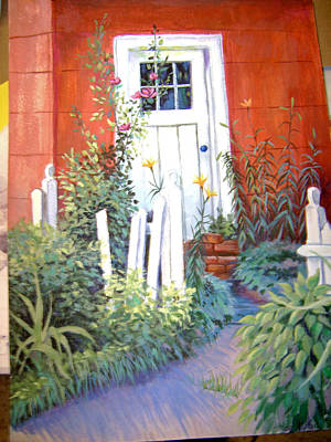 Red House Art Print by Judy Keefer