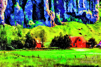 Digital Art - Red House Valley by Rick Bragan