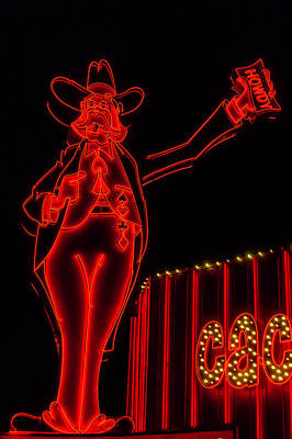 Photograph - Red Howdy Neon Sign by Garry Gay