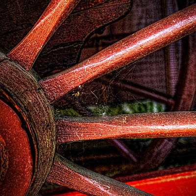 Photograph - Red Hub And Spokes by Roger Passman