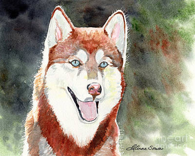 Painting - Red Husky by LeAnne Sowa