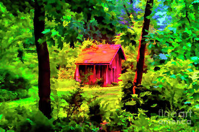 Photograph - Red Hut by Rick Bragan
