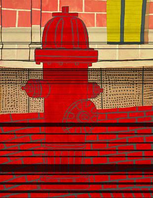 Red Hydrant Art Print by Sean Cusack