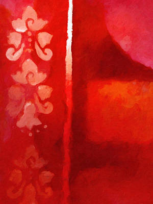 Red Impasto Art Print by Lutz Baar