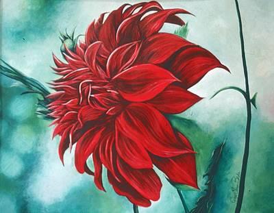 Wall Art - Painting - Red In Fury by Gaye Elise Beda