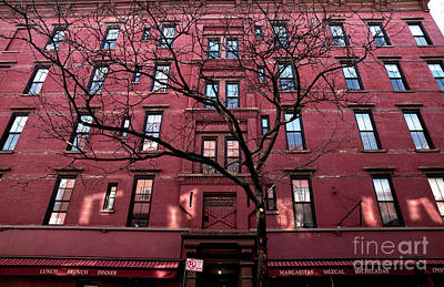Photograph - Red In Greenwich Village by John Rizzuto