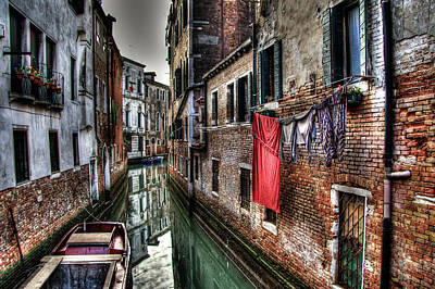 Red In Venice  Art Print