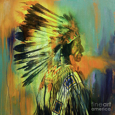 First Tribes Painting - Red Indians Uio by Gull G