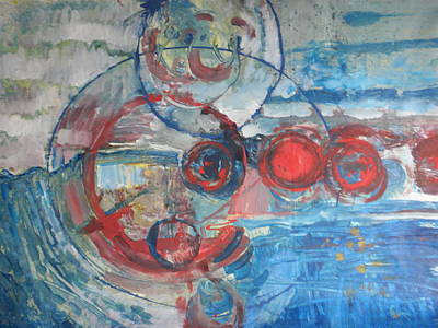 Art Print featuring the painting Red Infinity by John Fish